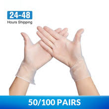 50/<b>100</b> Pairs Universal Disposable <b>PVC</b> Gloves Cleaning ...