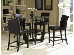 tall dining chairs counter: large round dining room tables homelegance dining room round counter height table urban
