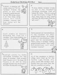 Word problems, Number activities and Words on PinterestDivision Word Problems: Reindeer Remainder- a festive division unit covering remainders, word problems