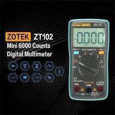 [Bayar Di Tempat]ZOTEK <b>ZT102</b> Multimeter Digital Mini 6000 Counts ...