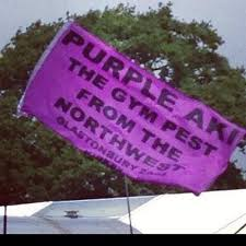 Purple Aki Flag At Glstonbury - Behind The Stands - Wanderers Ways ... via Relatably.com