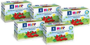 Hipp <b>чай органический</b> детский Шиповник пакетированный, с 4 ...