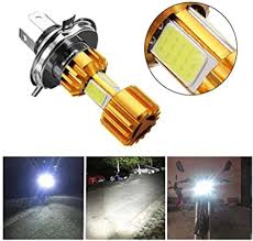 <b>1Pcs H4</b> LED Motorcycle Headlights Bulb <b>6500K</b> 12V Electric ...