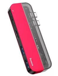 Купить <b>ХАБ Baseus Transparent</b> Series Dual Type-C Multifunctional ...