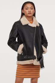 <b>Байкерская куртка</b> оверсайз - Черный - Женщины | H&M RU