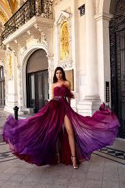 <b>Robe de soirée longue</b> sur mesure - Oksana Mukha Paris