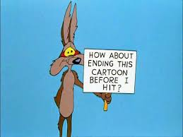 Image result for wile e coyote falling