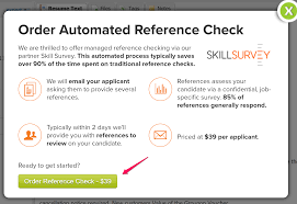 automated reference checks hiringthing support then simply click the green button to order and purchase