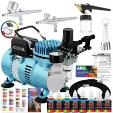 Master <b>Airbrush Professional 3 Airbrush</b> System with Compressor ...