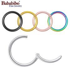 <b>1pc 16G</b> 6/8/10/12mm <b>Titanium</b> Hinged <b>Segment</b> Ring Nose Septum ...