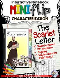 the scarlet letter interactive notebook characterization mini the scarlet letter interactive notebook characterization mini flip