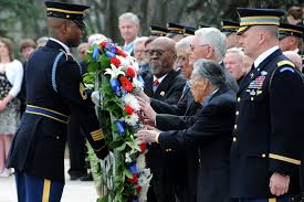 u s department of defense photo essay several congressional medal of honor recipients take part in a wreath laying at the tomb of