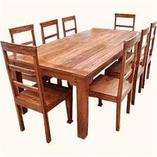 chair dining room tables rustic chairs: rustic furniture solid wood dining table amp chair set