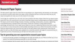 university research paper topics FAMU Online