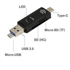 TF/SD Card Reader, <b>3 in 1 Type C</b>/<b>Micro</b> U- Buy Online in Suriname ...