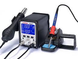 LCD SMD термовоздушная <b>паяльная станция YIHUA-995D</b>/995D+