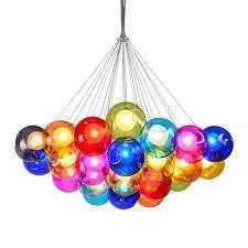 <b>Modern</b> Led Chandelier Color <b>Bubble</b> Ball <b>Pendant Lamp</b> Home ...