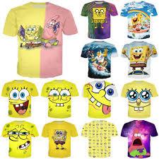 New <b>Men</b> Women <b>SpongeBob SquarePants</b> Cartoon Print <b>3D</b> T ...