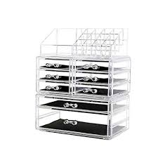 DreamGenius Makeup Organizer 3 Pieces Acrylic ... - Amazon.com