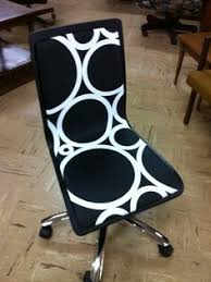 black and white circles office chair black and white office furniture
