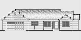 Single Level House Plans  One Story House Plans  Great Room HouseHouse front color elevation view for Single level house plans  one story house plans