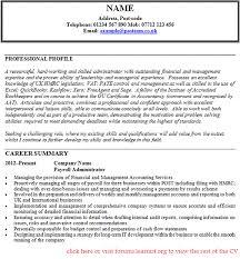 payroll administrator cv example   job seekers forumsgood luck
