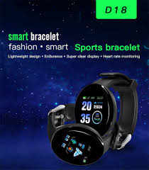 D18 New <b>Smart Watch Men</b> Blood Pressure Round Bluetooth ...