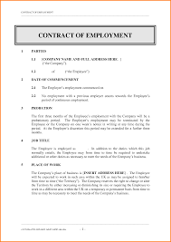 10 sample of employee contract quote templates recent search terms contract of employment template