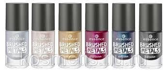 Essence, <b>Лак для ногтей Brushed</b> Metals Nail Polish, 8 мл (4 ...