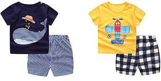 Guozyun <b>Baby Boy's T</b>-Shirt Short-Sleeve Short Set <b>Cartoon</b> Tees ...