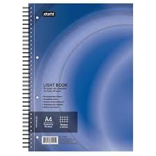 <b>Бизнес</b>-<b>тетрадь</b> 100л,кл,А4,<b>LightBook</b>,спираль,обл.синий,блок б
