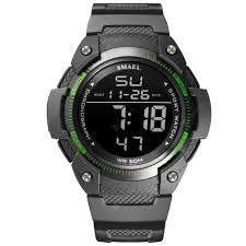 <b>Men Watches Digital SMAEL</b> Watch Waterproof LED Clock Alarm ...
