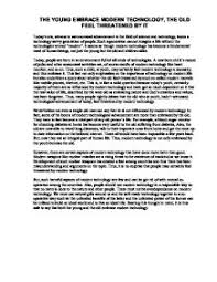essay on technology today  oglasico argumentative essay technology control my resume your fashionmodern technology essays time on school paper