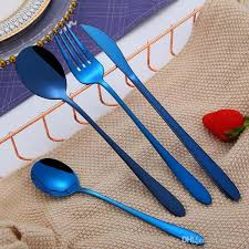 304 <b>stainless steel Tableware 4Pcs</b> Set High Quality Knife Fork ...