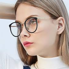 <b>Round</b> Spectacles women's <b>Vintage Clear</b> Lens Glasses Optical ...