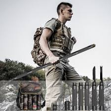 Tactical <b>Walking Stick</b> - <b>Survival Hiking Trekking</b> Pole ...