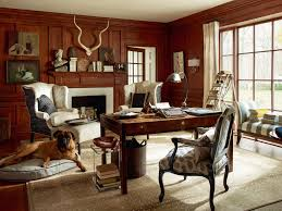 built in office desk home office traditional with antlers artwork biased welting bed in office