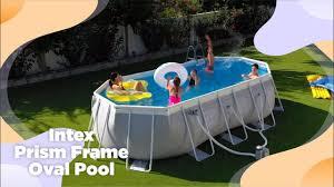 <b>Intex Prism Frame Oval</b> Pool Set   Intex Indonesia - YouTube