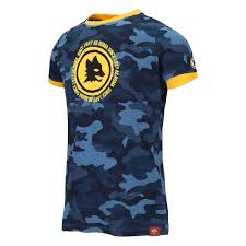 AS ROMA BLUE <b>CAMOUFLAGE T</b>-SHIRT - <b>KIDS</b>