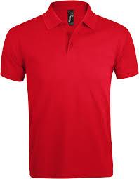<b>Рубашка поло</b> мужская <b>PRIME MEN</b> 200 красная (артикул ...