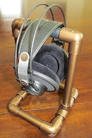 #<b>Vintage</b> copper #headphone stand industrial - <b>steampunk hand</b> ...