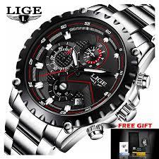 LIGE Watch <b>Men Fashion Sport</b> Quartz Clock <b>Mens</b> Watches Full ...