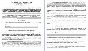 renovation contract contract agreements formats examples renovation contract template