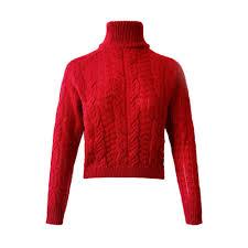 Hemlock <b>Women Winter Knitted</b> Sweater Turtleneck Cropped ...