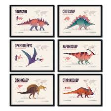 """<b>Набор постеров</b> """"Виды динозавров"""""""