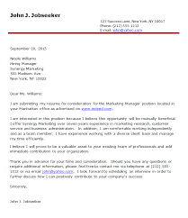 cover letter for job word format