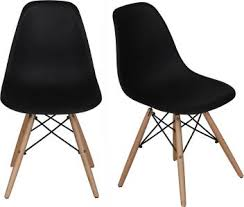 Lakdi <b>2 PCs</b> Retro Eames Replica DSW <b>Dining Chairs</b> PP Molded ...