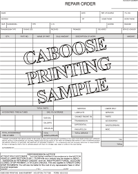 repair forms caboose printing repair order form ag216 3 package of 100