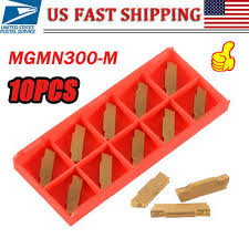 <b>10pcs MGMN300</b>-<b>M</b> Carbide <b>Inserts</b> 3mm Width for MGEHR/MGIVR ...