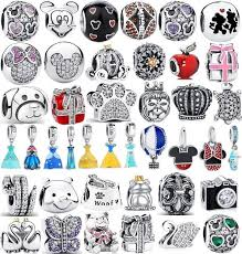 <b>Authentic 925</b> Sterling Silver Mickey & Minnie Bead Charm fit ...